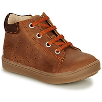 Shoes Boy High top trainers GBB NONELLE Brown