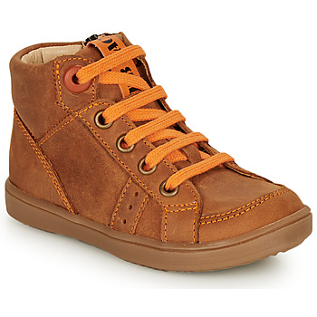 Shoes Boy High top trainers GBB ANGELITO Cognac / Orange
