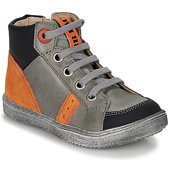 Shoes Boy High top trainers GBB ANGELITO Grey / Orange