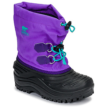 Shoes Children Snow boots Sorel CHILDRENS SUPER TROOPER™ Black / Violet