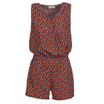 material Women Jumpsuits / Dungarees Moony Mood KETTELLE Red / Multicolour