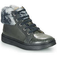 Shoes Girl High top trainers Catimini MARCELLE Vts / Grey / Flora