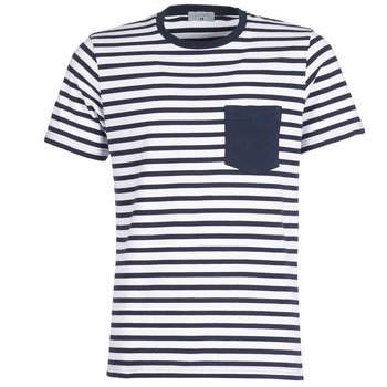 material Men short-sleeved t-shirts Casual Attitude KARALE Marine / White