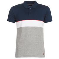 material Men short-sleeved polo shirts Yurban KOULAZ Marine / Grey / White
