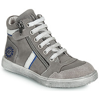 Shoes Boy Mid boots Ramdam HOUSTON Grey