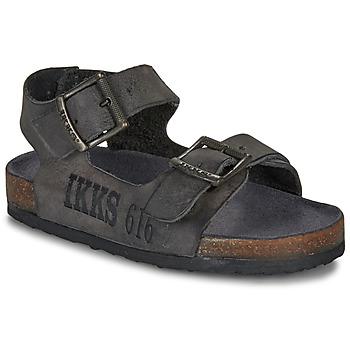 Shoes Boy Sandals Ikks CURTIS Black