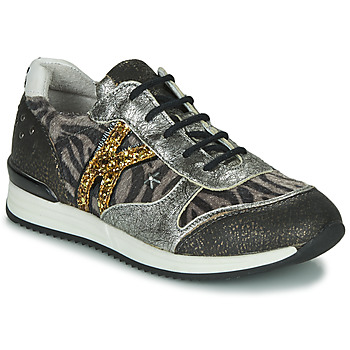 Shoes Girl Low top trainers Ikks WHITNEY Grey / Gold