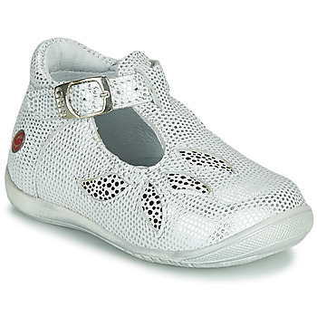 Shoes Girl Sandals GBB MARIE White / Silver