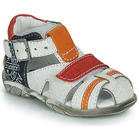 Shoes Boy Sandals GBB MELVIL White / Red / Orange