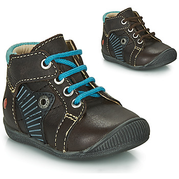 Shoes Boy High top trainers GBB NATALE Brown / Blue