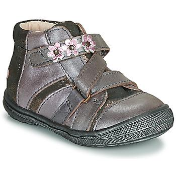 Shoes Girl Mid boots GBB NICOLETA Wood / De / Pink