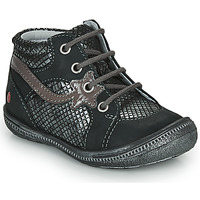 Shoes Girl Mid boots GBB NORA Black / Silver