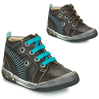 Shoes Boy High top trainers GBB NOAH Brown / Blue