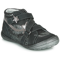 Shoes Girl Mid boots GBB NINA Black / Silver