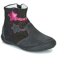 Shoes Girl Mid boots GBB NADIA Black / Pink