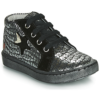 Shoes Girl High top trainers GBB LETO Black / Silver