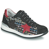 Shoes Girl Low top trainers Achile LAURA Black / Red / Multicolour