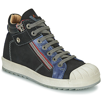 Shoes Boy High top trainers Achile DIEGO Black / Blue