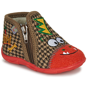 Shoes Boy Slippers GBB NEREO Red / Brown
