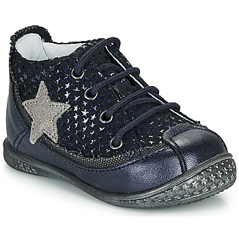 Shoes Girl Mid boots Ikks SYDNEY Marine / Silver
