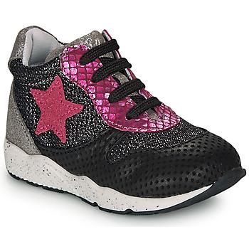 Shoes Girl Low top trainers Ikks KAREN Black / Pink