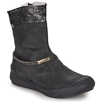 Shoes Girl Mid boots Ikks HILLARY Black