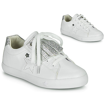 Shoes Girl Low top trainers Ikks MOLLY White / Silver