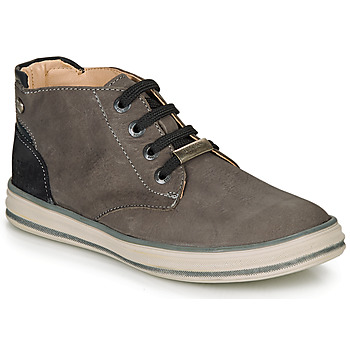 Shoes Boy High top trainers Ikks MARK Grey