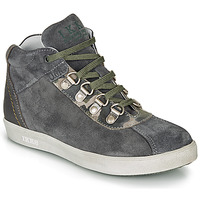 Shoes Boy Mid boots Ikks ISAAC Grey / Kaki