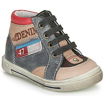 Shoes Boy High top trainers GBB PARIS Grey / Beige