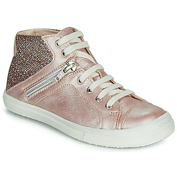 Shoes Girl High top trainers Achile KAMI Pink