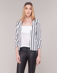 material Women Jackets / Blazers Only ONLPIPER White / Black