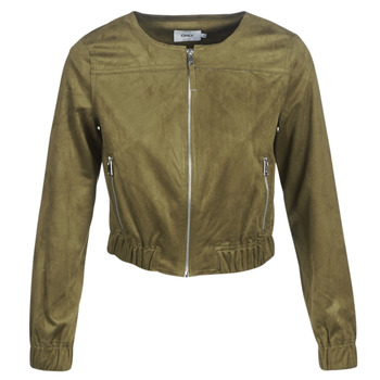 material Women Leather jackets / Imitation leather Only ONLLEONA Green