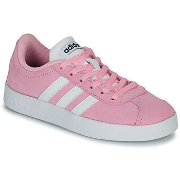 Shoes Children Low top trainers adidas Originals VL COURT K ROSE Pink