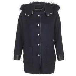 material Women coats Suncoo ELFIE Marine