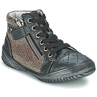 Shoes Girl Mid boots GBB LEONIA Grey / Silver