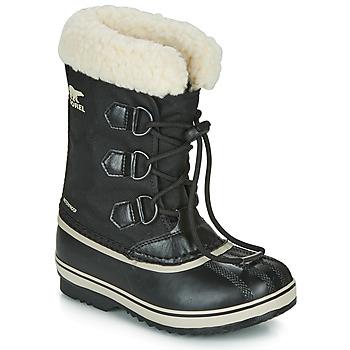 Shoes Children Snow boots Sorel YOOT PAC NYLON Black