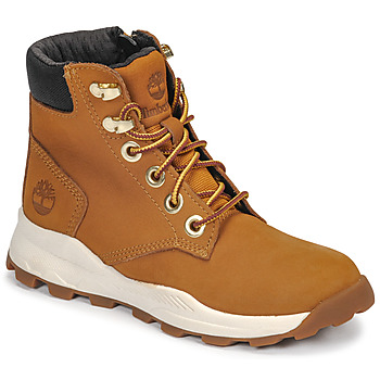 Shoes Children High top trainers Timberland BROOKLYN SNEAKER BOOT Brown