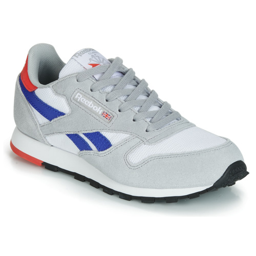 Shoes Children Low top trainers Reebok Classic CLASSIC LEATHER Grey / Blue