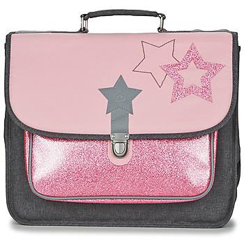 Bags Girl Satchels Citrouille et Compagnie SCUOLA 38 CM Pink / Grey