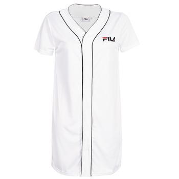 material Women Short Dresses Fila ROBIN White