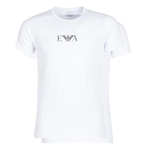 material Men short-sleeved t-shirts Emporio Armani CC715-111267-04712 White