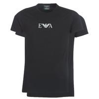 material Men short-sleeved t-shirts Emporio Armani CC715-PACK DE 2 Black