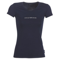 material Women short-sleeved t-shirts Emporio Armani CC317-163321-00135 Marine