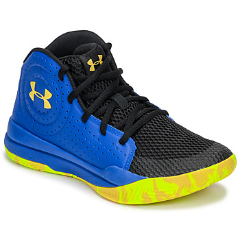 Shoes Children Basketball shoes Under Armour GS JET 2019 Blue / Yellow