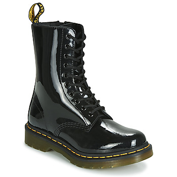 Shoes Women Mid boots Dr Martens 1490 PATENT LAMPER Black