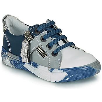 Shoes Boy Low top trainers Ikks BRANDON Blue / Grey