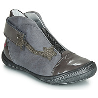 Shoes Girl Mid boots GBB NOLWENN Grey / Silver