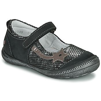 Shoes Girl Ballerinas GBB NYOKO Black / Silver