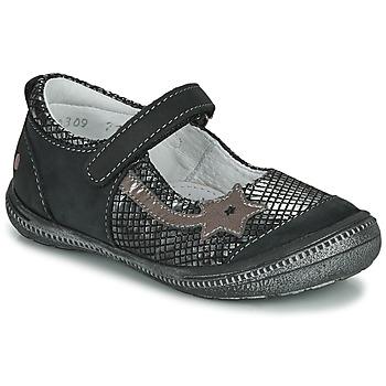 Shoes Girl Ballerinas GBB NYOKO Black / Silver